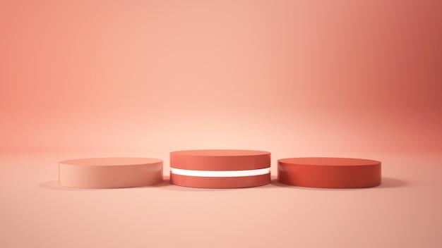 Visor minimalista moderno do pódio Foto Premium