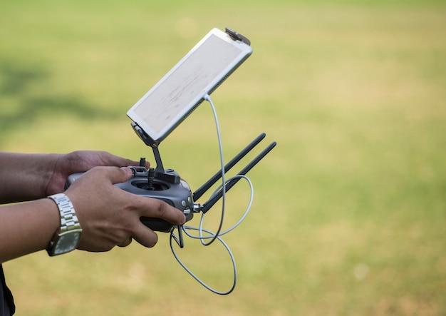 Vista aérea com drones Foto Premium