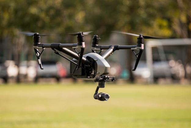 Vista aérea com zangão Foto Premium