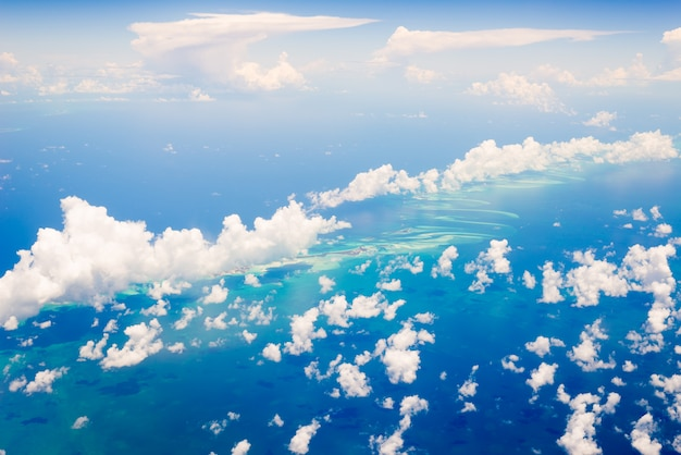 Vista aérea das bahamas Foto Premium