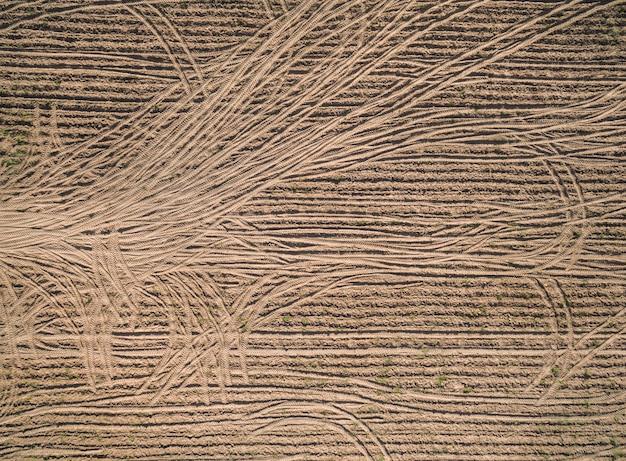 Vista aérea, de, drone, paisagem agricultural, abstratos, textura, e, natureza, fundo Foto Premium