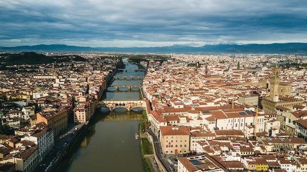 Vista aérea de florença, itália, europa Foto Premium