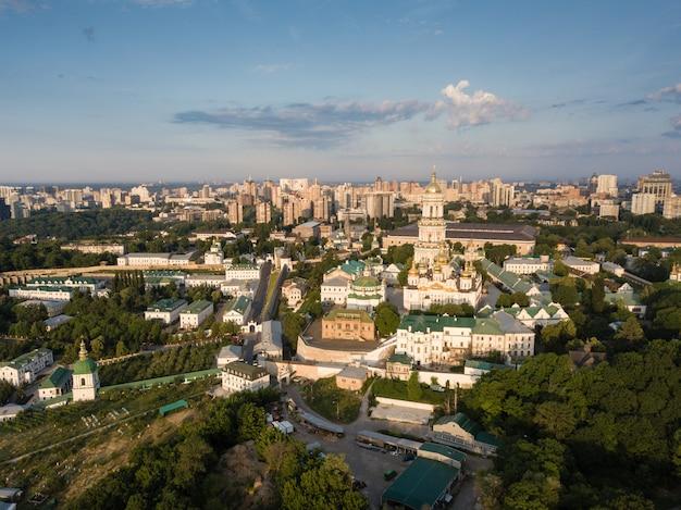 Vista aérea, de, kiev, pechersk, lavra, ucrânia Foto Premium