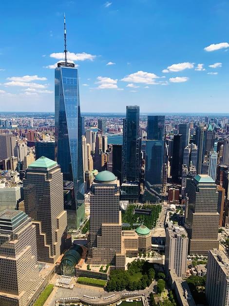 Vista aérea de new york city Foto Premium