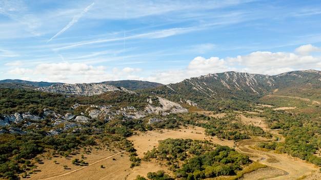 Vista aérea de paisagem de tirar o fôlego Foto gratuita