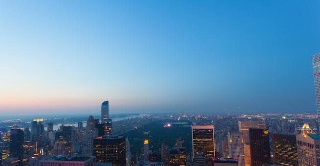 Vista aérea, de, parque central, em, cidade nova iorque Foto Premium