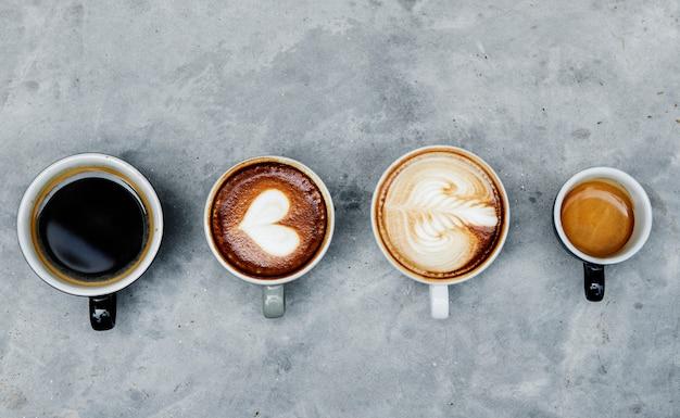 Vista aérea, de, vário, café Foto gratuita