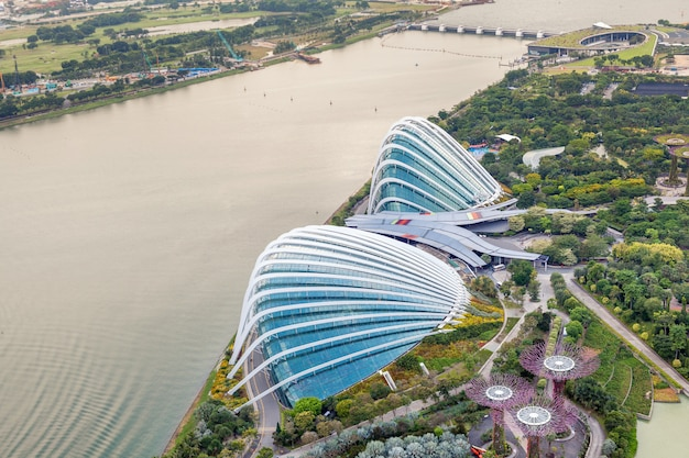 Vista aérea do jardim botânico Foto Premium