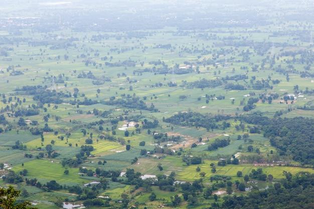 Vista aérea do marco público da paisagem Foto Premium