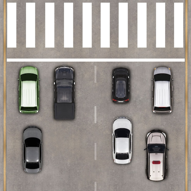 Vista aérea, sobre, a, estrada Foto Premium