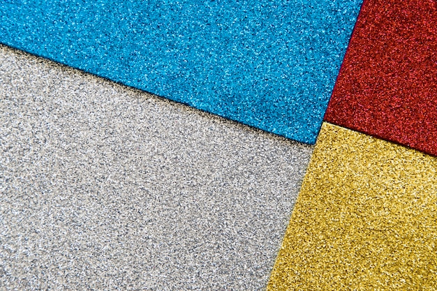 Vista alta ângulo, de, multi colorido, brilho, textura, fundo Foto gratuita