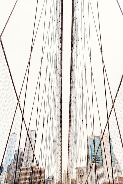 Vista, atrás de, cordas, manhattan Foto gratuita