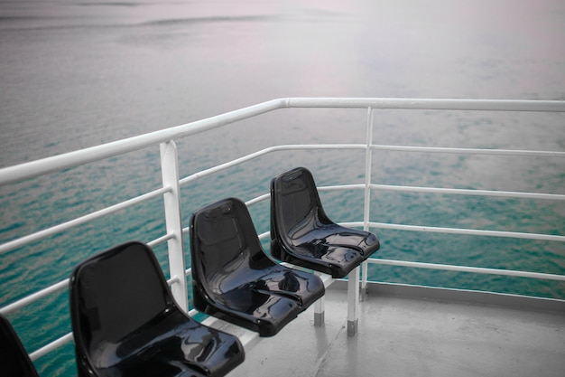 Vista, convés, grande, cruzeiro, navio Foto Premium