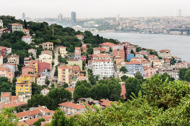 Vista da cidade de istambul Foto Premium