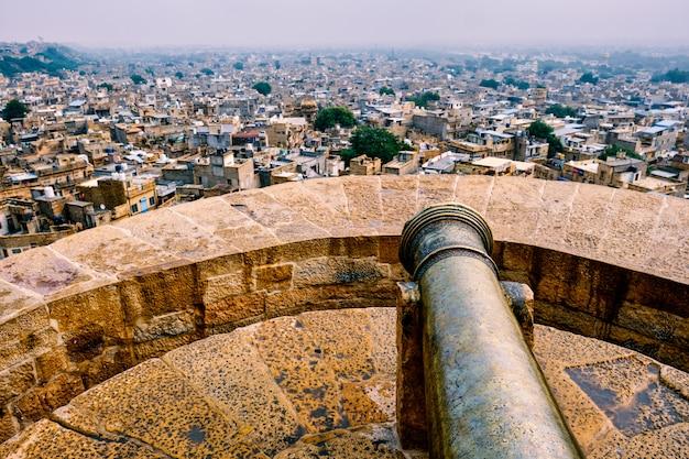 Vista da cidade de jaisalmer do forte de jaisalmer, rajastão, índia Foto Premium