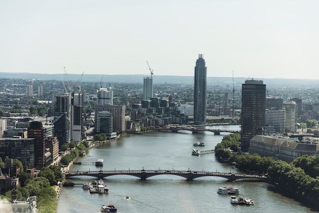Vista da cidade de londres Foto Premium