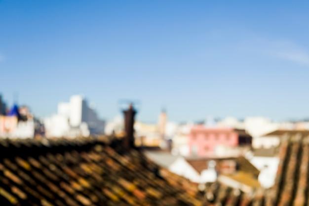 Vista da cidade turva Foto gratuita