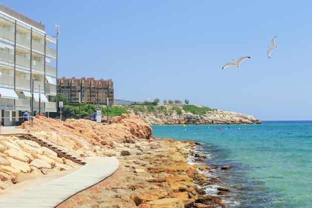 Vista da costa de salou Foto Premium
