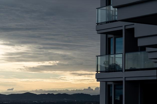 Vista da varanda do hotel Foto Premium
