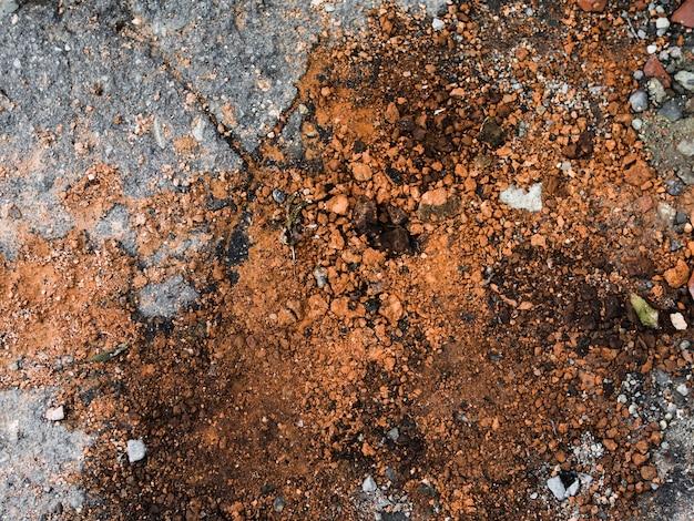 Vista de alto ângulo de fundo marrom sujeira Foto gratuita