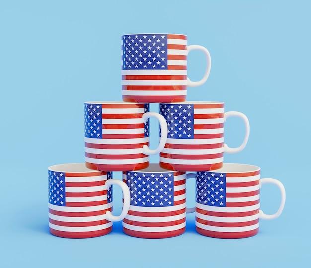 Vista de perto da disposição das taças eleitorais americanas Foto gratuita