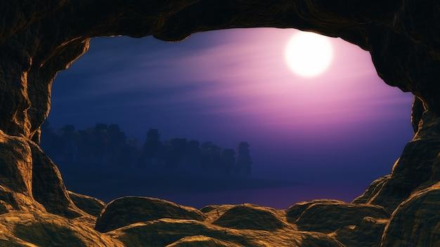 Vista de um projeto caverna Foto gratuita