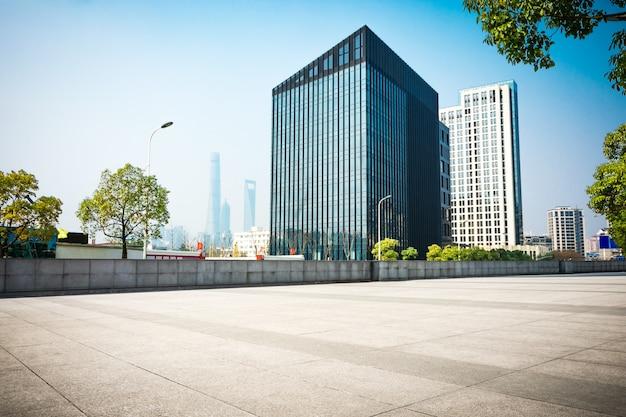 Vista do centro de raleigh, carolina do norte do nível da rua, imagem hdr Foto gratuita