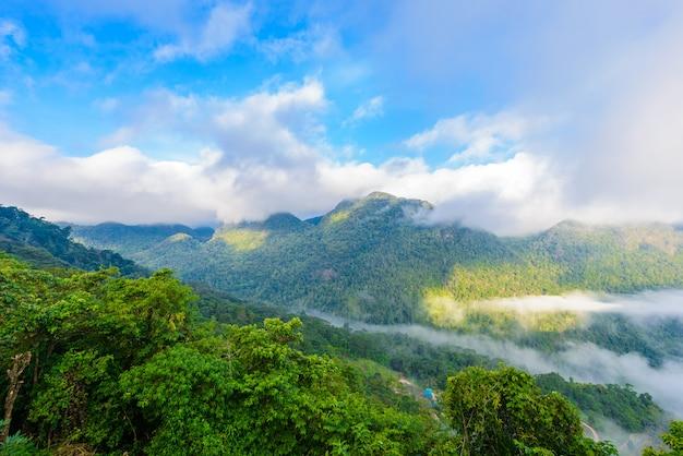 Vista do ponto de vista de sui thang na montanha de angkhang Foto Premium