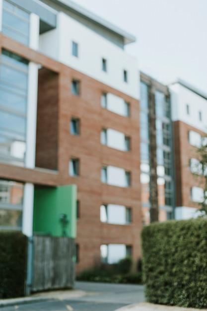 Vista exterior, de, modernos, inglês, apartamento Foto gratuita
