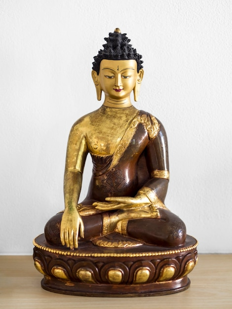 Vista frontal da estatueta hindu religiosa Foto gratuita