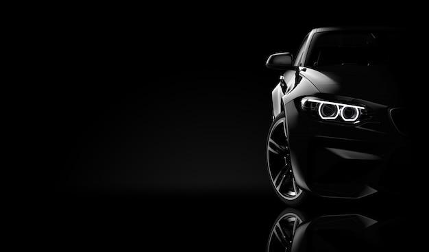 Vista frontal de um carro moderado genérico e brandless Foto Premium