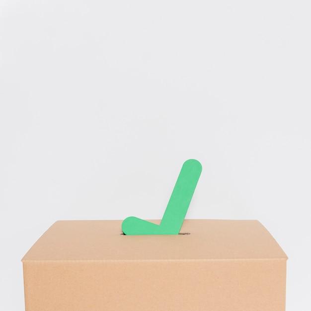 Vista frontal do conceito de eleições com espaço de cópia Foto Premium