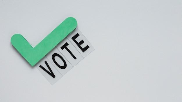 Vista frontal do conceito de eleições com espaço de cópia Foto gratuita