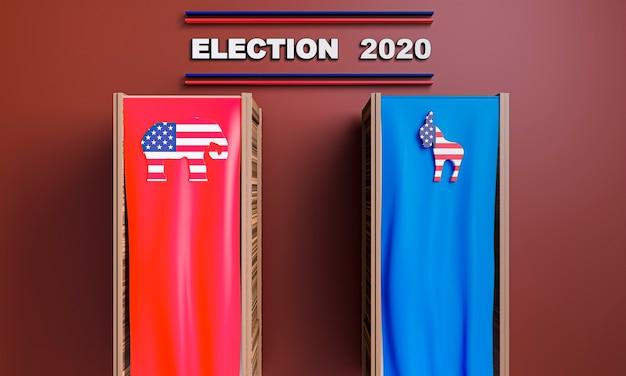Vista frontal do conceito de eleições nos eua Foto gratuita