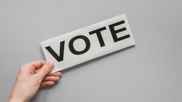 Vista frontal do conceito de votação de eleições Foto gratuita