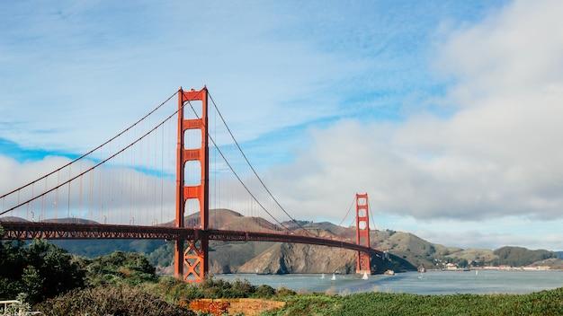 Vista panorâmica da ponte golden gate, são francisco, califórnia, eua Foto Premium