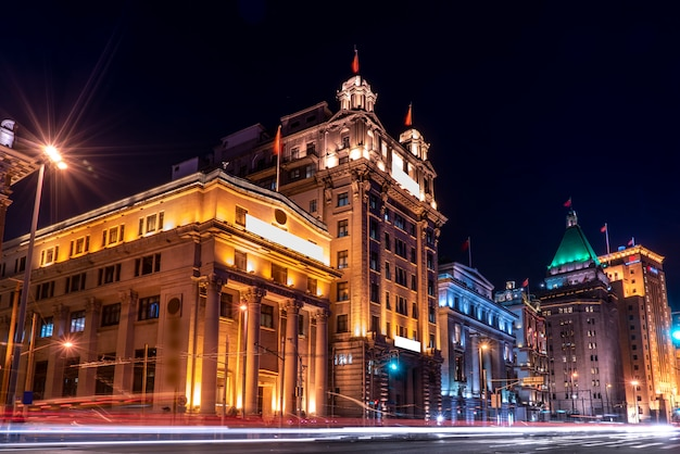 Vista panorâmica de lujiazui, o distrito financeiro em pudong, shanghai, china. Foto Premium