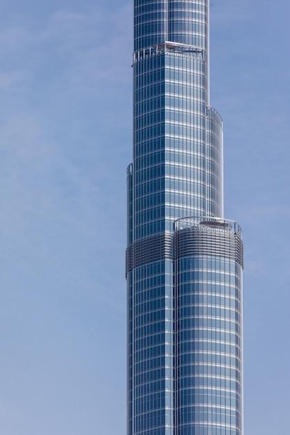 Vista para a torre mais alta do mundo burj khalifa, dubai emirados árabes unidos Foto gratuita
