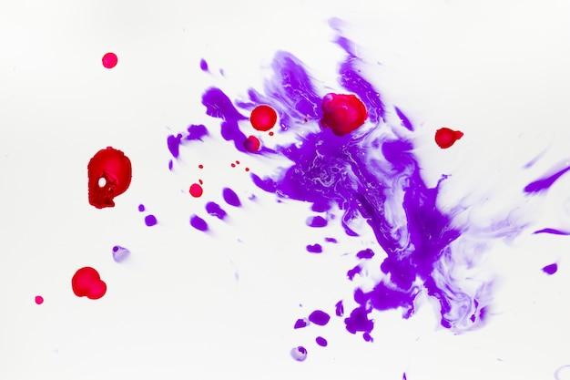 Vista plana de salpicos de tinta Foto gratuita
