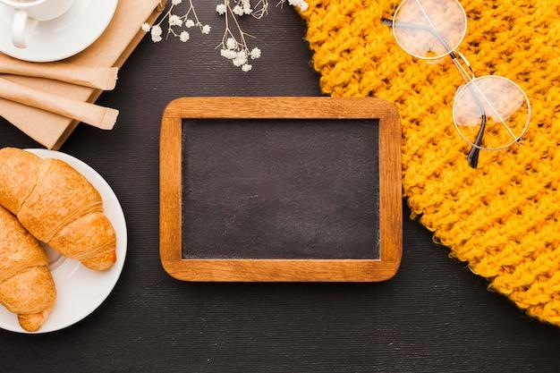 Vista superior café da manhã Foto gratuita