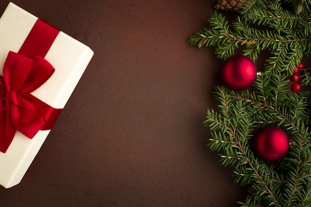 Vista superior conceito de natal festivo Foto gratuita