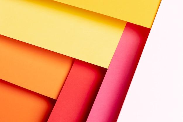 Vista superior cores quentes padrão close-up Foto gratuita