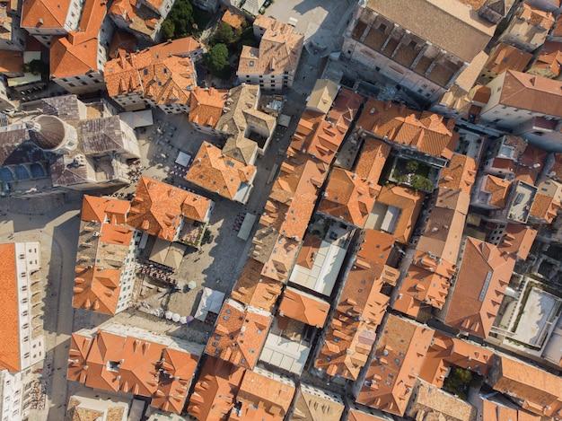 Vista superior da cidade velha de dubrovnik, croácia Foto Premium