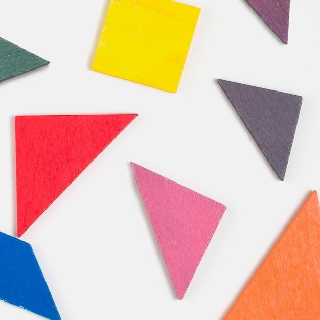 Vista superior de formas coloridas para chá de bebê Foto gratuita