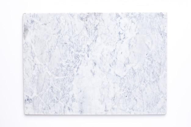 Vista superior de placa de cozinha retangular de mármore Foto Premium