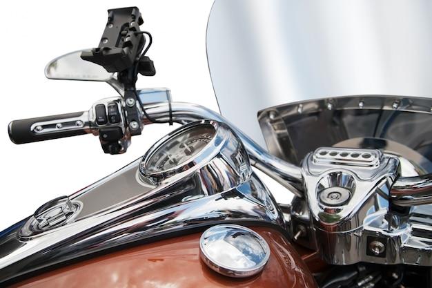 Vista superior de uma motocicleta clássica Foto gratuita