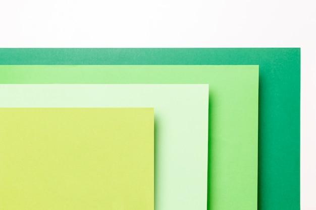 Vista superior diferentes tons de padrões verdes close-up Foto gratuita
