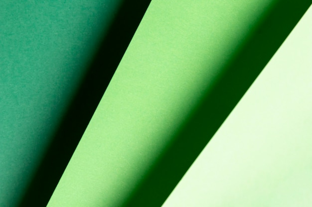 Vista superior diferentes tons de padrões verdes Foto gratuita