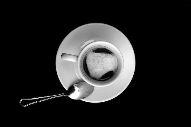 Vista superior do café em preto Foto Premium