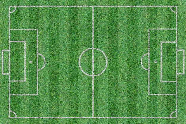 Vista superior do campo de futebol verde Foto Premium
